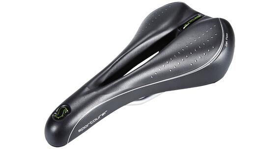 Sportourer X Race Gel Flow zadel zwart